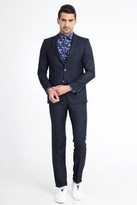 Erkek Giyim - LACİVERT 64 Beden Blazer Ceket