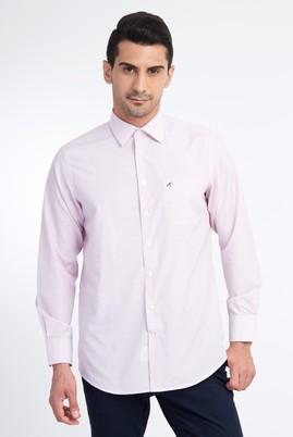 Erkek Giyim - Beyaz XL Beden Uzun Kol Ekose Klasik Gömlek