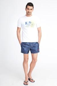 Erkek Giyim - Desenli Deniz Şortu