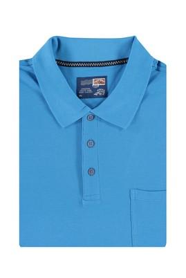 Erkek Giyim - Mavi 4X Beden King Size Polo Yaka Tişört