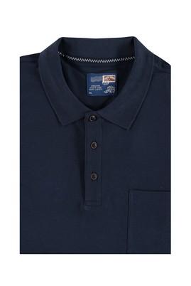Erkek Giyim - Lacivert 6X Beden King Size Polo Yaka Tişört