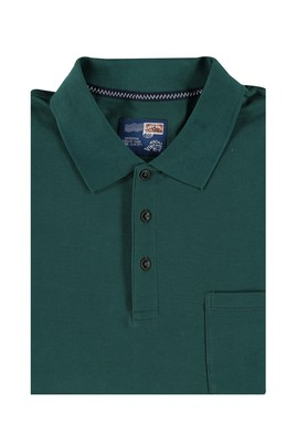 Erkek Giyim - KOYU YESİL 4X Beden King Size Polo Yaka Tişört