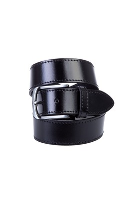 Erkek Giyim - Siyah 125 Beden Spor Deri Kemer
