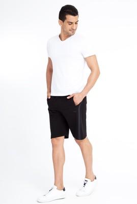 Erkek Giyim - Siyah S Beden Spor Sweat Şort