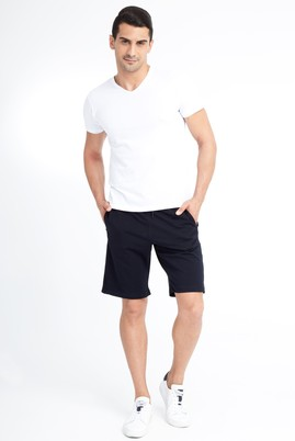 Erkek Giyim - Lacivert S Beden Spor Sweat Şort