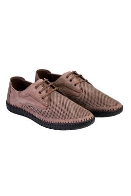 Erkek Giyim - VİZON 43 Beden Bağcıklı Nubuk Ayakkabı