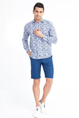 Erkek Giyim - Mavi 58 Beden Spor Bermuda Şort