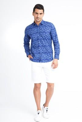 Erkek Giyim - Beyaz 48 Beden Spor Bermuda Şort
