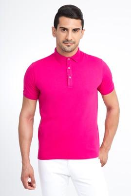 Erkek Giyim - Pembe XL Beden Regular Fit Polo Yaka Tişört
