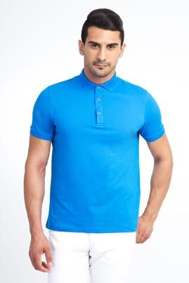 Erkek Giyim - Mavi L Beden Regular Fit Polo Yaka Tişört