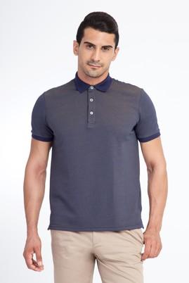 Erkek Giyim - Kahve M Beden Regular Fit Desenli Polo Yaka Tişört