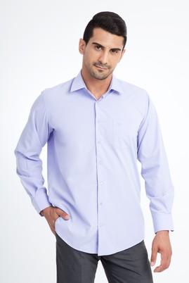 Erkek Giyim - Lila L Beden Uzun Kol Klasik Gömlek