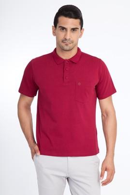 Erkek Giyim - Bordo XL Beden Regular Fit Polo Yaka Tişört
