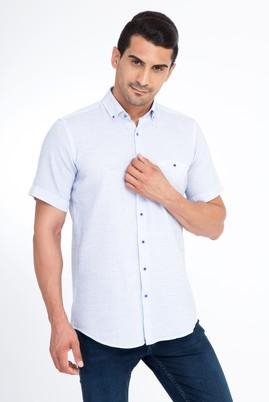 Erkek Giyim - Mavi S Beden Kısa Kol Spor Gömlek