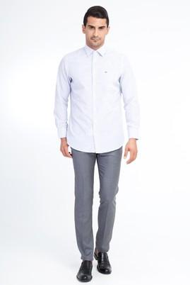 Erkek Giyim - Orta füme 50 Beden Slim Fit Klasik Pantolon
