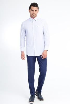 Erkek Giyim - MAVİ 54 Beden Slim Fit Yünlü Klasik Pantolon