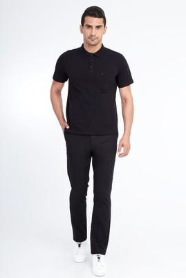 Erkek Giyim - Siyah 56 Beden Desenli Spor Pantolon