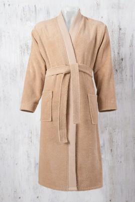 Erkek Giyim - Kum SM Beden Kimono Yaka Bornoz