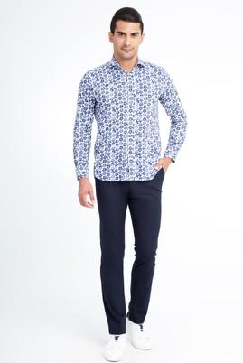 Erkek Giyim - Lacivert 46 Beden Slim Fit Spor Pantolon