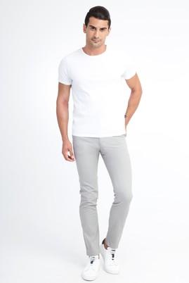 Erkek Giyim - Orta füme 52 Beden Slim Fit Desenli Spor Pantolon