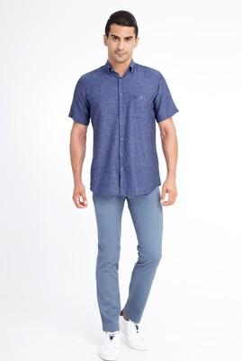 Erkek Giyim - Açık Mavi 54 Beden Desenli Spor Pantolon