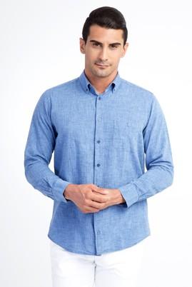 Erkek Giyim - Lacivert M Beden Uzun Kol Spor Gömlek