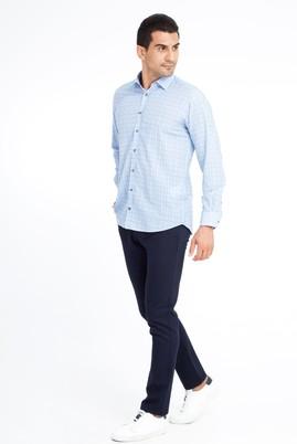 Erkek Giyim - Lacivert 56 Beden Desenli Spor Pantolon