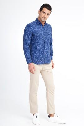 Erkek Giyim - Bej 56 Beden Desenli Spor Pantolon