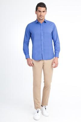 Erkek Giyim - Açık Kahve - Camel 58 Beden Saten Spor Pantolon