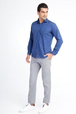 Erkek Giyim - Açık Gri 52 Beden Saten Spor Pantolon