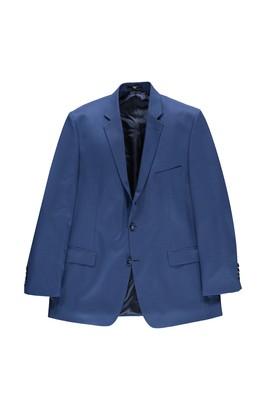 Erkek Giyim - Mavi 66 Beden King Size Kuşgözü Ceket