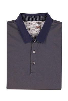 Erkek Giyim - Kahve 5X Beden King Size Polo Yaka Desenli Tişört