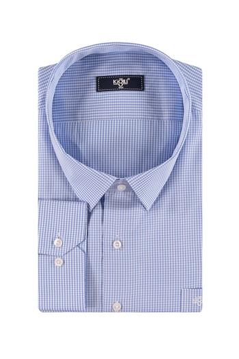 Erkek Giyim - King Size Uzun Kol Çizgili Gömlek