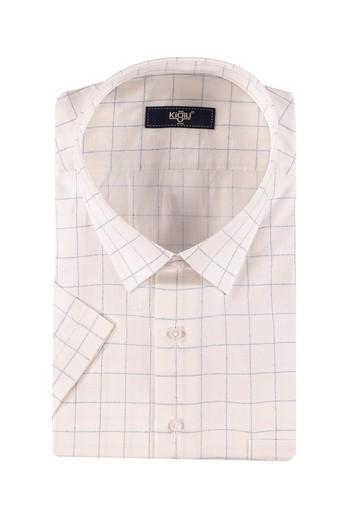 Erkek Giyim - King Size Kısa Kol Ekose Spor Gömlek