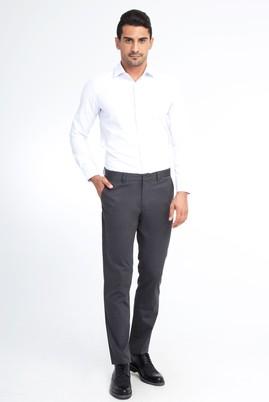 Erkek Giyim - Füme Gri 52 Beden Saten Spor Pantolon