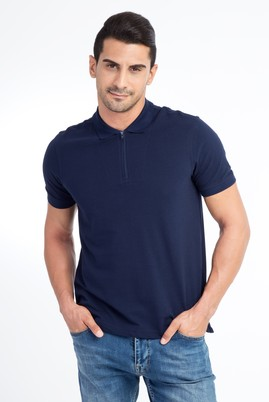 Erkek Giyim - Lacivert M Beden Regular Fit Polo Yaka Tişört