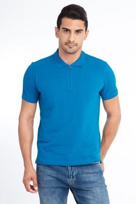 Erkek Giyim - Petrol XXL Beden Regular Fit Polo Yaka Tişört