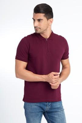 Erkek Giyim - Kırmızı S Beden Regular Fit Polo Yaka Tişört