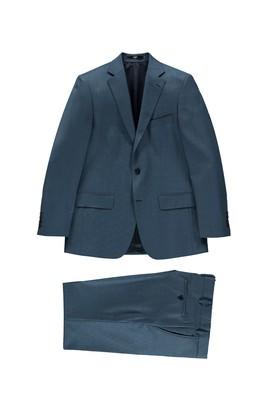 Erkek Giyim - Turkuaz 62 Beden Kuşgözü Takım Elbise