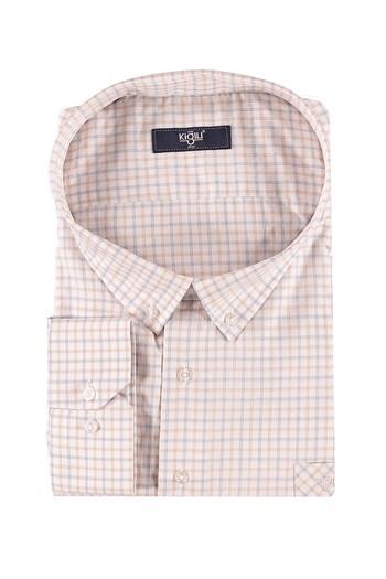 Erkek Giyim - King Size Uzun Kol Kareli Gömlek