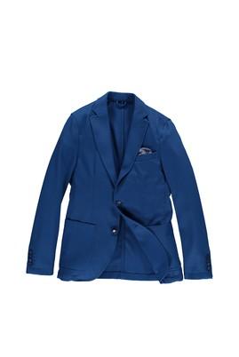 Erkek Giyim - Mavi 46 Beden Örme Ceket
