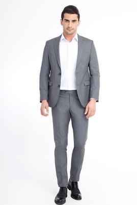 Erkek Giyim - Açık Gri 44 Beden Süper Slim Fit Takım Elbise