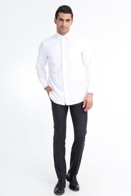 Erkek Giyim - Antrasit 46 Beden Slim Fit Yünlü Klasik Pantolon