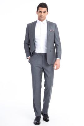 Erkek Giyim - Orta füme 60 Beden Klasik Takım Elbise