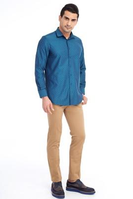 Erkek Giyim - Açık Kahve - Camel 50 Beden Spor Saten Pantolon