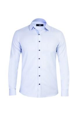 Erkek Giyim - Mavi S Beden Uzun Kol Süper Slim Fit Gömlek