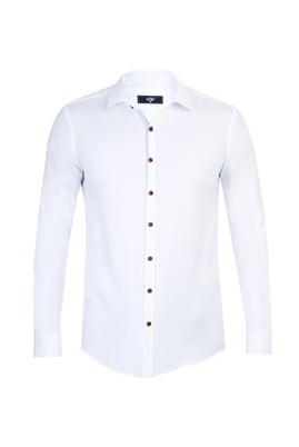 Erkek Giyim - Beyaz S Beden Uzun Kol Süper Slim Fit Gömlek