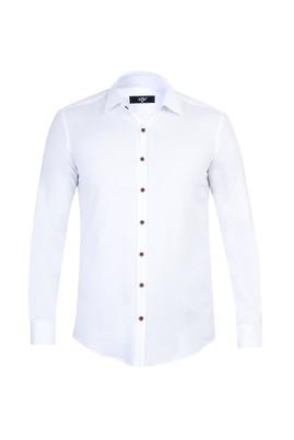 Erkek Giyim - Beyaz M Beden Uzun Kol Süper Slim Fit Gömlek