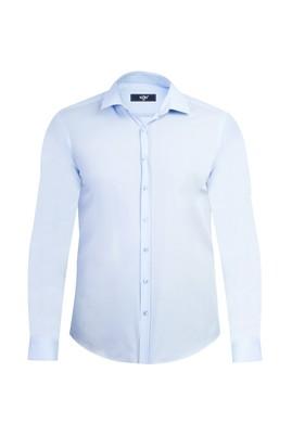 Erkek Giyim - Açık Mavi M Beden Uzun Kol Süper Slim Fit Gömlek