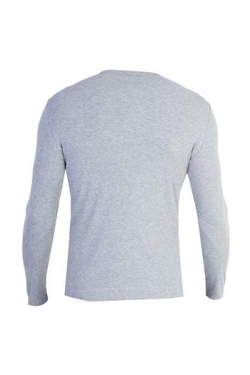 Erkek Giyim - V Yaka Slim Fit Sweatshirt